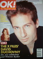 <!--1996-11-17-->OK! magazine - David Duchovny cover (17 November 1996 - Is