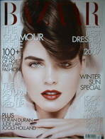 <!--2007-12-->Harper's Bazaar magazine - December 2007 - Hilary Rhoda cover