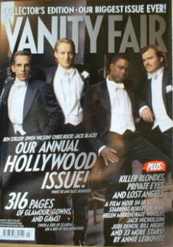 Vanity Fair magazine - Ben Stiller, Owen Wilson, Chris Rock and Jack Black cover (March 2007)