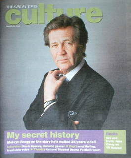 <!--2008-03-30-->Culture magazine - Melvyn Bragg cover (30 March 2008)