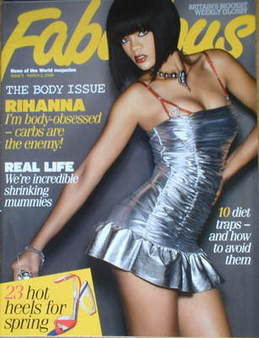<!--2008-03-02-->Fabulous magazine - Rihanna cover (2 March 2008)