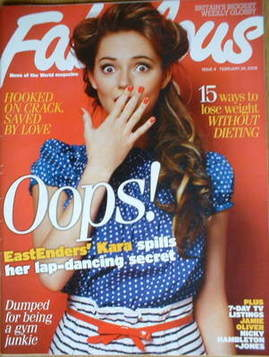 <!--2008-02-24-->Fabulous magazine - Kara Tointon cover (24 February 2008)