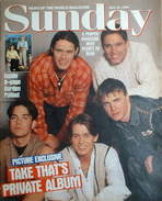 <!--1994-04-10-->Sunday magazine - 10 April 1994 - Take That cover