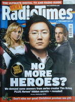 <!--2007-12-01-->Radio Times magazine - Heroes cover (1-7 December 2007)