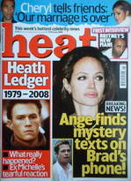 <!--2008-02-02-->Heat magazine - Heath Ledger / Angelina Jolie cover (2-8 F