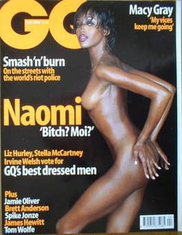<!--2000-04-->British GQ magazine - April 2000 - Naomi Campbell cover