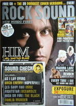 <!--2007-10-->Rock Sound magazine - HIM Ville Valo cover (October 2007)