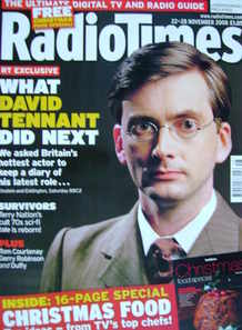 <!--2008-11-22-->Radio Times magazine - David Tennant cover (22-28 November