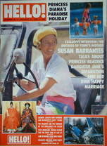 <!--1989-01-21-->Hello! magazine - Susan Barrantes cover (21 January 1989 -
