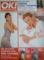 <!--1997-05-23-->OK! magazine - Teri Hatcher and Serena Scott Thomas cover (23 May 1997 - Issue 60)