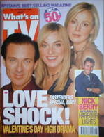 What's On TV magazine - Martin Kemp, Tamzin Outhwaite cover (13-19 February 1999)