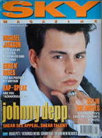 <!--1991-09-->Sky magazine - Johnny Depp cover (September 1991)