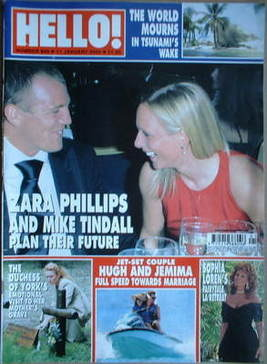 <!--2005-01-11-->Hello! magazine - Zara Phillips and Mike Tindall cover (11