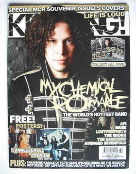 <!--2006-10-21-->Kerrang magazine - Ray Toro cover (21 October 2006 - Issue