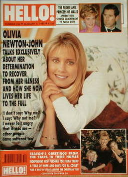 <!--1993-01-02-->Hello! magazine - Olivia Newton-John cover (2 January 1993