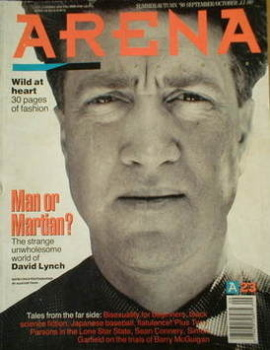 Arena magazine - Summer/Autumn 1990 - David Lynch cover