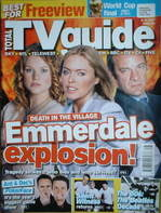 <!--2006-07-08-->Total TV Guide magazine - Emmerdale Explosion cover (8-14 July 2006)