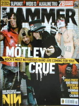 Metal Hammer magazine - Motley Crue cover (June 2005)