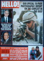 <!--1991-01-26-->Hello! magazine - The Gulf conflict cover (26 January 1991