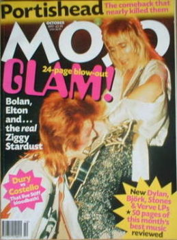 MOJO magazine - David Bowie and Mick Ronson cover (October 1997 - Issue 47)