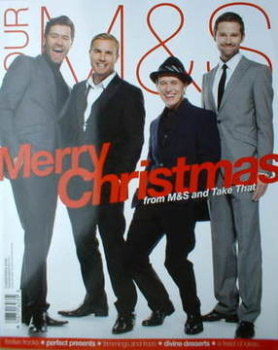 M&S magazine - Take That cover (Xmas 2008)