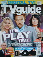 Total TV Guide magazine - Damian Lewis, Sarah Parish & Billie Piper cover (5-11 November 2005)