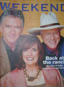 <!--2006-07-01-->Weekend magazine - Patrick Duffy, Linda Gray, Larry Hagman cover (1 July 2006)