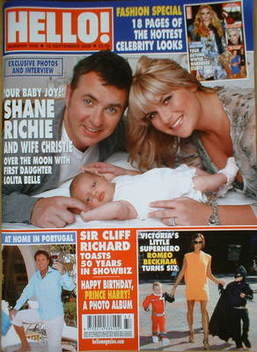 <!--2008-09-16-->Hello! magazine - Shane Richie cover (16 September 2008 -