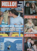 <!--2007-04-17-->Hello! magazine - Prince Harry and Chelsy Davy cover (17 April 2007 - Issue 965)