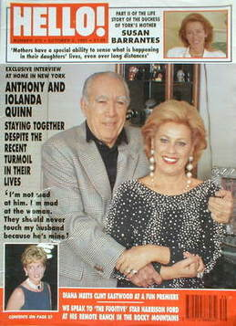 <!--1993-10-02-->Hello! magazine - Anthony and Iolanda Quinn (2 October 199