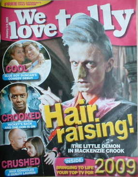 We Love Telly magazine - Mackenzie Crook cover (3-9 January 2009)