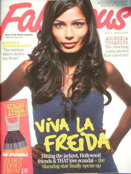 <!--2009-03-08-->Fabulous magazine - Freida Pinto cover (8 March 2009)
