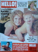 <!--1993-08-07-->Hello! magazine - Rachel Hunter and baby Renee cover (7 Au