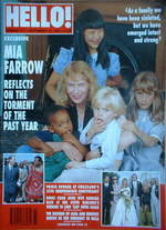 <!--1993-09-18-->Hello! magazine - Mia Farrow cover (18 September 1993 - Is