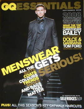 GQ menswear magazine supplement - Autumn/Winter 2008