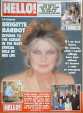 <!--1989-05-20-->Hello! magazine - Brigitte Bardot cover (20 May 1989 - Iss