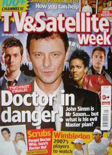 TV&Satellite Week magazine - John Simm, David Tennant, Freema Agyeman, John