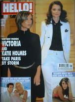 <!--2006-10-17-->Hello! magazine - Victoria Beckham and Katie Holmes cover