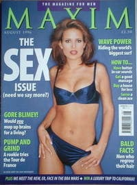 MAXIM magazine - Sophie Anderton cover (August 1996)