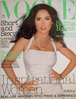 <!--2003-06-->British Vogue magazine - June 2003 - Salma Hayek cover