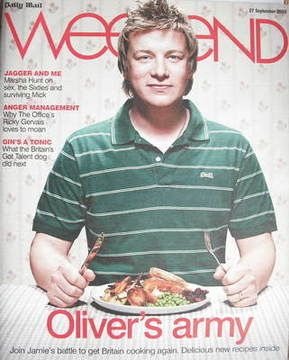 Weekend magazine - Jamie Oliver cover (27 September 2008)