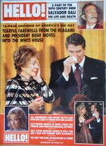 <!--1989-02-04-->Hello! magazine - Ronald Reagan and Nancy cover (4 Februar