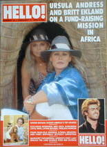 <!--1989-02-11-->Hello! magazine - Ursula Andress and Britt Ekland cover (1