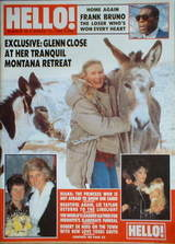<!--1989-03-11-->Hello! magazine - Glenn Close cover (11 March 1989 - Issue