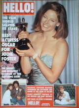 <!--1989-04-08-->Hello! magazine - Jodie Foster cover (8 April 1989 - Issue