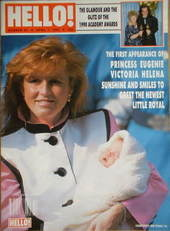 <!--1990-04-07-->Hello! magazine - Princess Eugenie cover (7 April 1990 - I