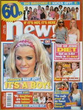 <!--2005-06-06-->New magazine - 6 June 2005 - Katie Price cover
