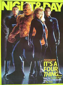 Night & Day magazine - The Fantastic Four cover (22 May 2005)