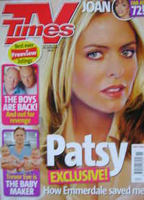 <!--2006-03-18-->TV Times magazine - Patsy Kensit cover (18-24 March 2006)