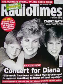 <!--2007-06-23-->Radio Times magazine - Prince Harry, Princess Diana and Pr